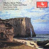 Widor: Sonatas for Violin and Piano / Packer, Grossman