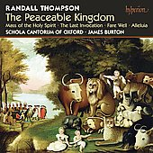 Thompson: The Peaceable Kingdom, Mass of the Holy Spirit, etc / James Burton, et al