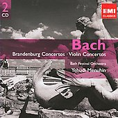 Gemini - Bach: Brandenburg & Violin Concertos / Menuhin, Bath Festival Orchestra