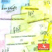 Leo Kraft: Five Sonnets, Seven Hebrew Songs, Transformations, etc