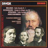 Brahms and his Friends Vol. 2 / Music for cello and piano by Brahms, Schumann, Rontgen, Herzogenberg / Claudius Herrmann, cello