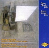 Ottorini Respighi, Ildebrando Pizetti: Sonatas for violin & piano