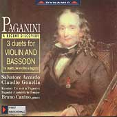 Paganini: Works for Violin and Bassoon / Accardo, Gonella