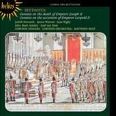 Beethoven: Cantata on the Death of Emperor Joseph II; Cantata on the Accession of Emperor Leopold II / Judith Howarth, Janice Watson, Jean Rigby, John Mark Ainsley, José Van Dam