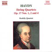 Haydn: String Quartets Op 17 no 1, 2, & 4 / Kodály Quartet