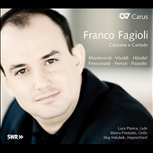 Canzone e Cantate / Franco Fagioli, countertenor - Vivaldi, Handel, Paisiello, et al.