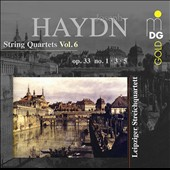 Haydn: String Quartets Vol. 6: Op. 33/ 1, 3 & 5 / Leipzig Quartet