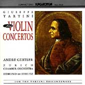 Tartini: Five Violin Concertos / Gertler, Stoutz