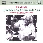 Tintner Memorial Edition Vol 5 - Brahms: Symphony no 3, etc