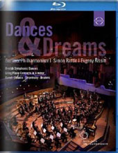 Dances & Dreams - works by Dvorak, Grieg, Ravel, R. Strauss, Stravinsky, Brahms / Evgeny Kissin, piano; Simon Rattle, Berlin PO [Blu-Ray]