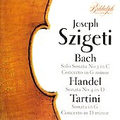 Szigeti plays Bach, Handel and Tartini