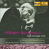 Wilhelm Backhaus at Carnegie Hall - Beethoven