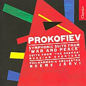 Prokofiev: War and Peace Suite, etc / J&auml;rvi, Philharmonia Orchestra