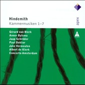 Hindemith: Kammermusik 1-7 / Concerto Amsterdam