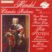 Handel: Chandos Anthems Vol 1 / Christophers, The Sixteen
