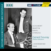 Gerard Souzay: Liederabend 1960 - Schubert, Martin, Ravel, Strauss