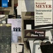 Krzysztof Meyer (b.1943): Piano Trio, Op. 50; Misterioso, Op. 83 for violin & piano; Moment musical, for cello solo; Canzona for cello & piano; Imaginary Variations for violin & piano