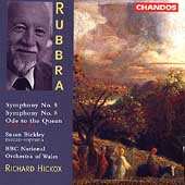 Rubbra: Symphonies no 5 & 8, etc / Hickox, BBC NO of Wales