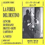 Verdi: La Forza del Destino / Votto, Gencer, Di Stefano