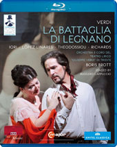 Verdi: La Battaglia di Legnano / Iori, Linares, Theodossiou, Richards. Brott [Blu-Ray]