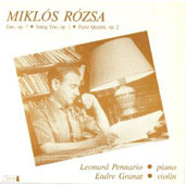 Chamber Music By Miklos Rozsa