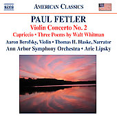 Fetler: Violin Concerto No. 2; Capriccio
