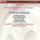 Bach: The Brandenburg Concertos nos 4, 5 & 6 / Marriner