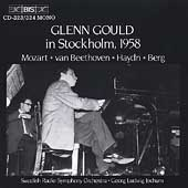 Glenn Gould Live in Stockholm 1958 / Georg Jochum