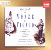 Mozart: Le Nozze di Figaro [Highlights] / Taddei, Schwarzkopf, Moffo, Cossotto, Wachter