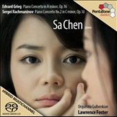 Grieg: Piano Concerto; Rachmaninov: Piano Concerto No. 2 / Sa Chen, piano