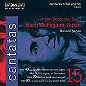 Bach: Cantatas Vol 15 / Nonoshita, Blaze, Turk, Urano, et al