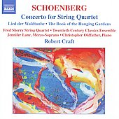 Schoenberg: Concerto for String Quartet, etc / Jennifer Lane