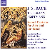 Bach, Hoffman, Telemann: Cantatas / Kielland, Sch&auml;fer, et al