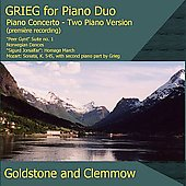 Edvard Grieg: Music for Piano Duo / Goldstone-Clemmow Duo