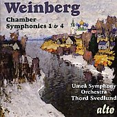 Weinberg: Chamber Symphony no 1 & 4 / Thord Svedlund, Ume&aring; Symphony Orchestra
