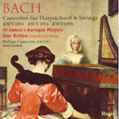 Bach: Concertos for Solo Harpsichord / Ivor Bolton, St. James Baroque Players