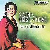 Nadia Reisenberg - Carnegie Hall Recital 1947