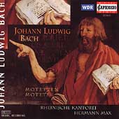 J.L. Bach: Motets / Max, Rheinische Kantorei