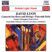 Lyon: Concerto for Horn and Strings, etc / Lloyd-Jones, etc