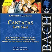 Bach: Cantatas, BWV 38-40