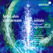 Bernd Alois Zimmermann: songs and chamber music / Anna Prohaska, soprano