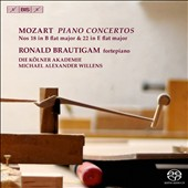 Mozart: Piano Concertos Nos. 18 in B flat major & 22 in E flat major / Ronald Brautigam, fortepiano