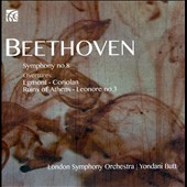 Beethoven: Symphony No. 8; Overtures to Egmont; Coriolan, Ruins of Athens; Leonore III / Butt, London SO
