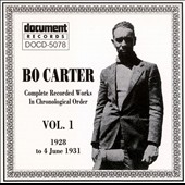 Bo Carter: Bo Carter, Vol. 1 (1928-1931)