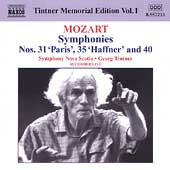 Tintner Memorial Edition Vol 1 - Mozart: Symphonies