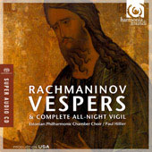 Rachmaninov: Vespers, Op. 37 / Paul Hillier, Estonian Philharmonic Chamber Choir