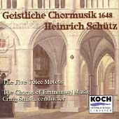 Schütz: Geistliche Chormusik / Smith, Emmanuel Music Choir
