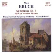 Bruch: Symphony no 3, Suite on Russian Themes /Honeck, et al