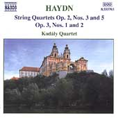 Haydn: String Quartets Op 2 no 3 & 5, Op 3 no 1, 2