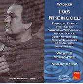 Wagner: Das Rheingold / Sch&uuml;chter, Windgassen, Kuen, et al